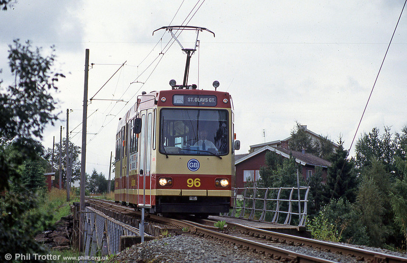 Car 96 on the bridge at Hoem on 7th August 1991.