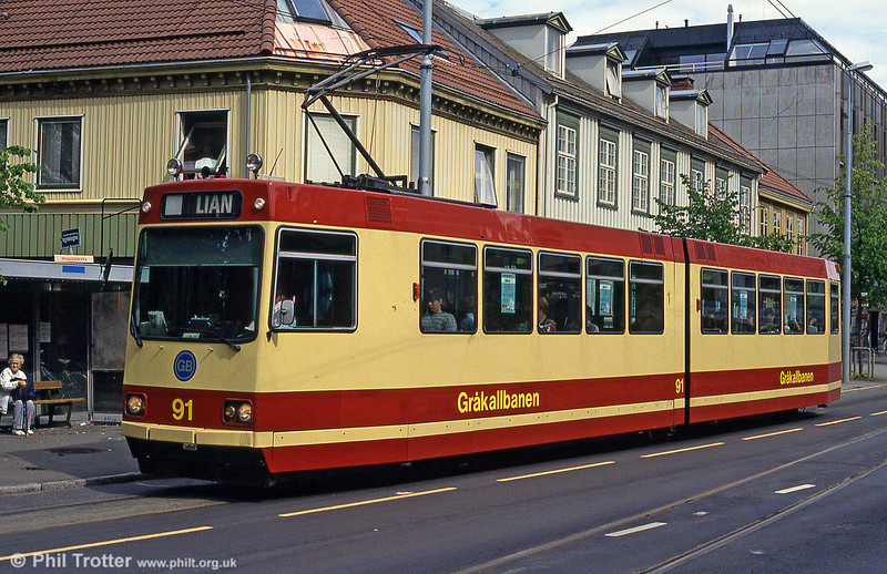Car 91 at Hospitalets Kirke on 7th August 1991.