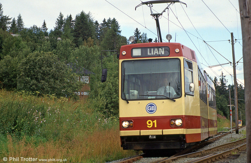 Car 91 at Hoem on 7th August 1991.