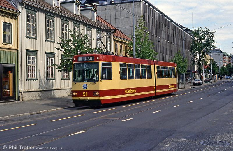 Car 91 at Skansen on 7th August 1991.