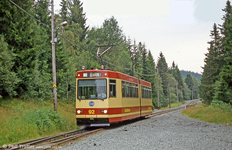 Car 92 at Lian on 6th August 1991.