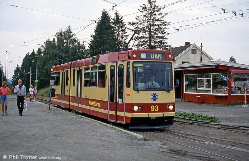 Car 93 at Munkvoll on 6th August 1991.