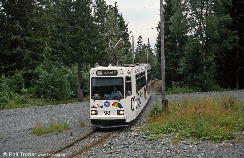 Car 98 at Lian terminus, 6th August 1991.