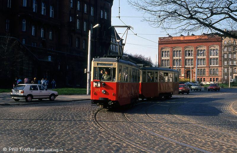 Szczecin Konstal 4N car 283 near Glowny Station.