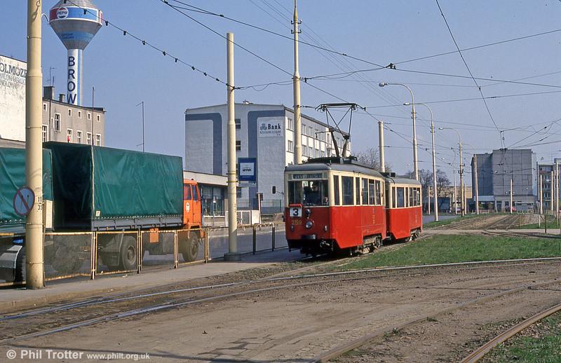Szczecin Konstal 4N car 259 at Pomorzany.