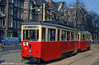 A closer look at Szczecin Konstal 4N car 114 of 1951 vintage at Plac Kościuszki. This has now been preserved at the Szczecin Technical Museum.