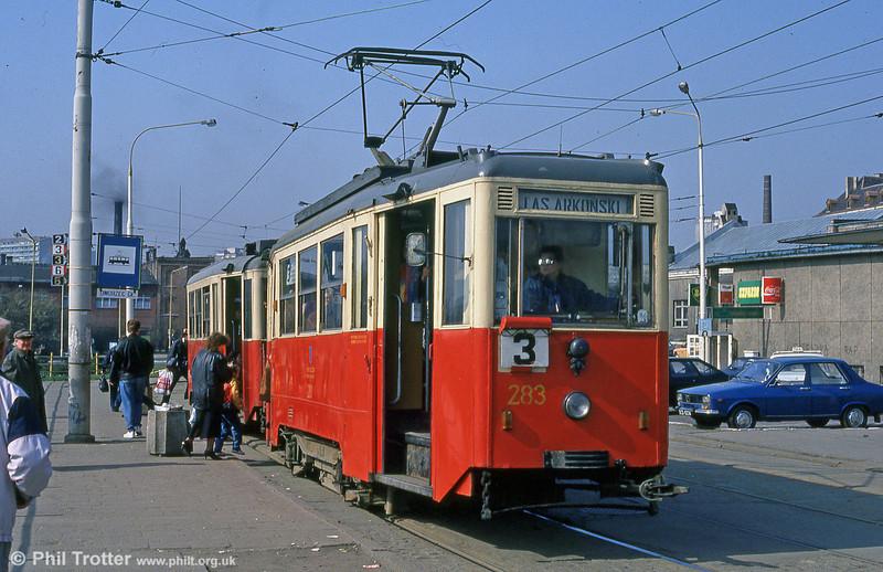 Szczecin Konstal 4N car 284 at Glowny Station. Konstal 4N trams produced between 1956 and 1962 by the Konstal plant in Chorzow.