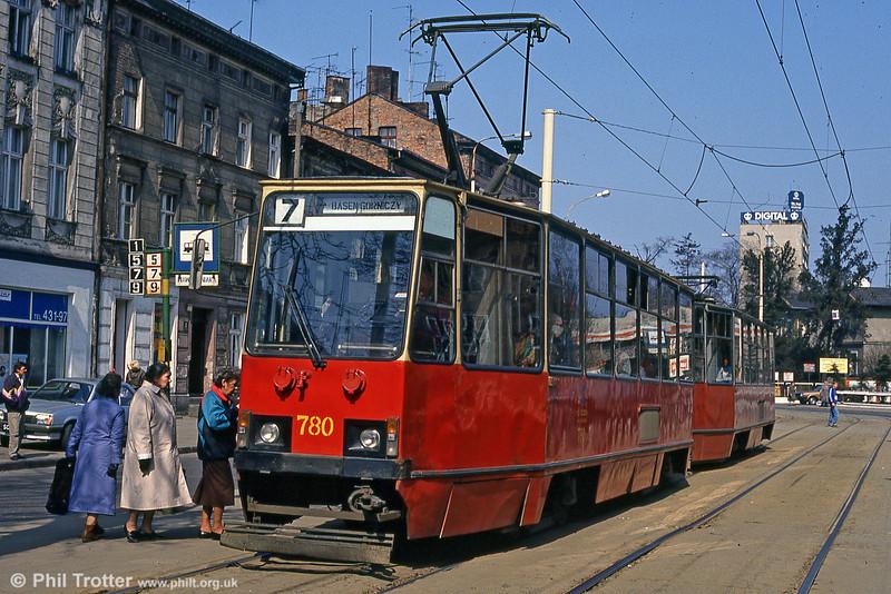 Konstal 105Na no. 780 Aleja Bohaterów Warszawy.