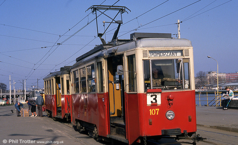 Szczecin Konstal 4N car 114 at Glowny Station.