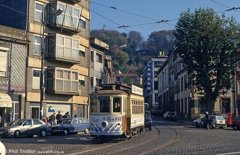 Oporto 221 at the junction of Rua Restauração and Alameda de Basilio Teles on 26th November 1993.