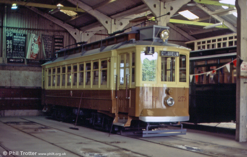 They never looked as good as this in service! Oporto 273, now fully restored, in the depot at Crich, UK on 20th June 2004.