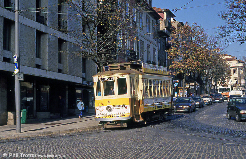 Oporto 220 where Rua Restauração meets Alameda de Basilio Teles on 26th November 1993.