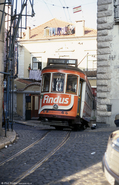 Lisbon 724 reaches the summit of the short but steep route 12 at Sao Tome on 25th November 1993.
