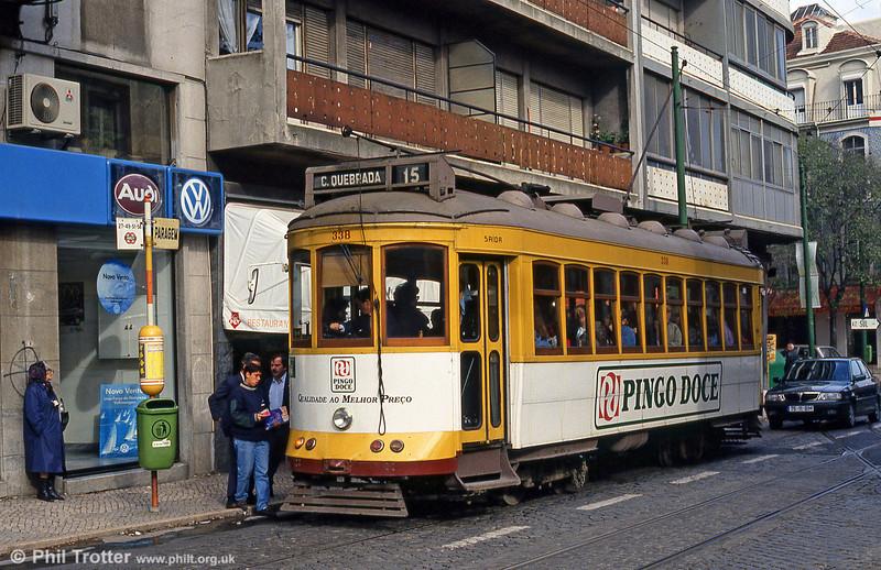 Car 338 at Largo Calvário on 23rd November 1993.