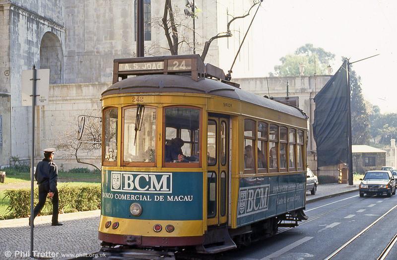 Lisbon 242 in Rua das Amoreiras on 24th November 1993.