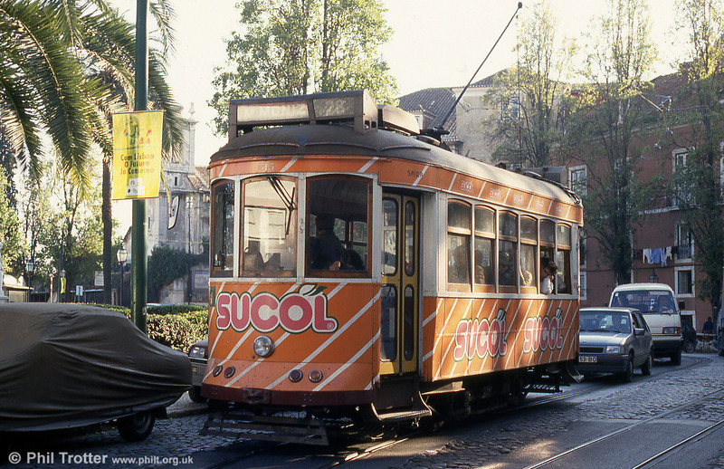 Car 615 at Largo Portas do Sol on 23rd November 1993.