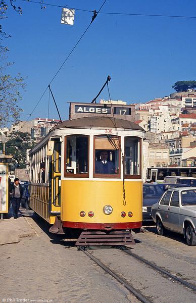 Lisbon 336 at Martim Moniz on 25th November 1993.