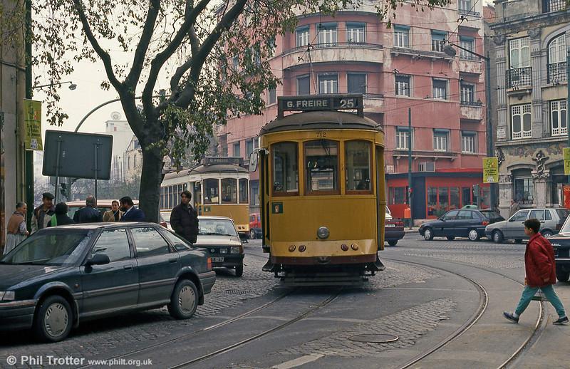 Car 712 at Rua S. Domingos on 27th November 1993.