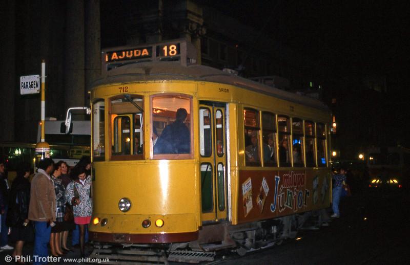 Car 712 at Praça do Comércio on 25th November 1993.
