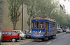 Car 614 at Gomes Freire on 23rd November 1993. 613 and 701-35 were built in 1935-40 for use on the routes with the steepest inclines and were equipped with six independent brake systems.
