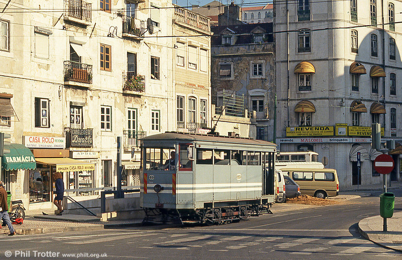 Lisbon water car 389 at Martim Moniz on 24th November 1993.