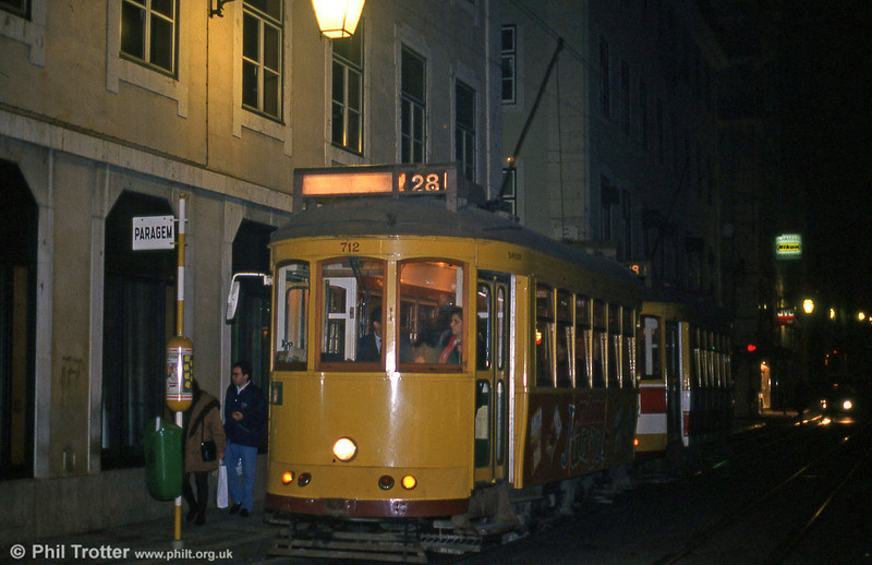 Car 712 at Rua Da Conceição on 27th November 1993.