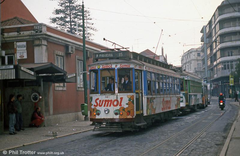 Lisbon 348 at Santa Amoro on 25th November 1993.