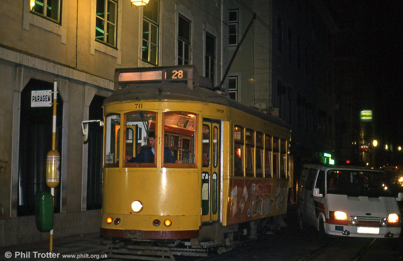Car 711 at Rua Da Conceição on 22nd November 1993.