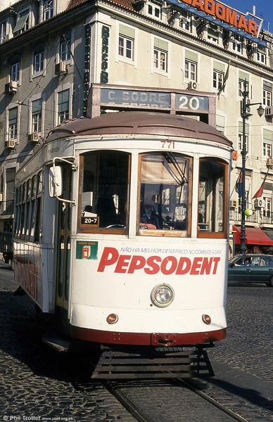 Car 771 at Cais do Sodré on 24th November 1993.