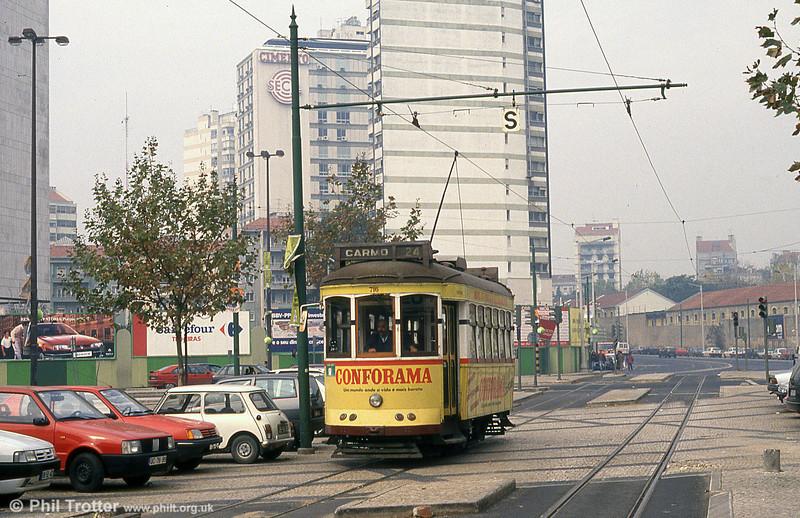 Car 716 at Amoreiras on 27th November 1993.