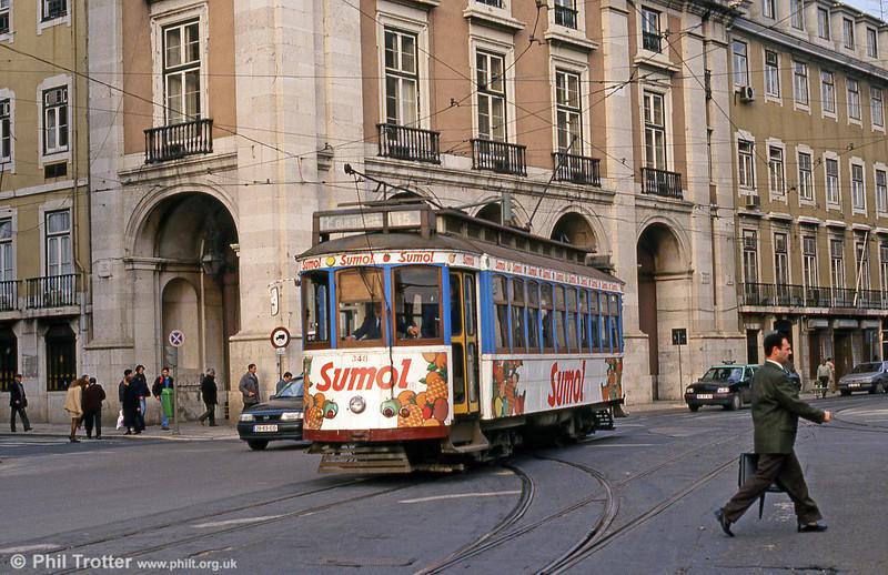 Car 348 at Praça do Comércio on 23rd November 1993.