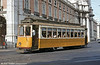 Lisbon bogie car 323 at Praça do Comércio in the heat of June 1983. Riding the trams in Lisbon was a great way to cool off in such weather!
