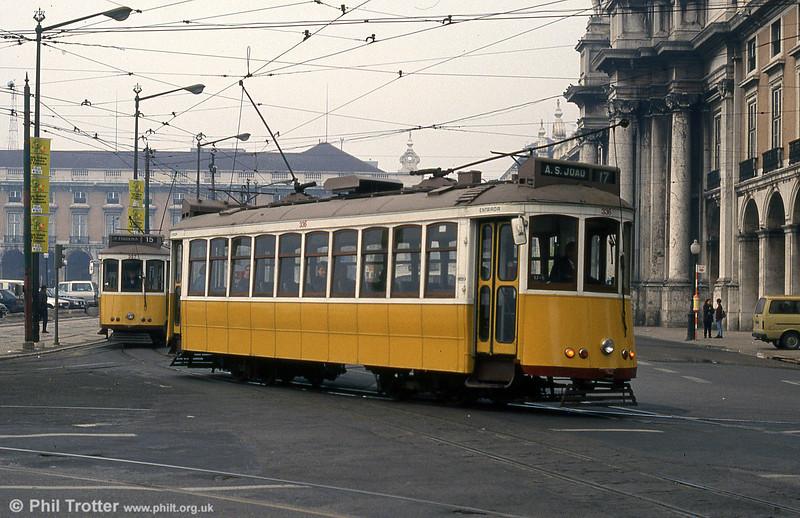 Car 336 at Praça do Comércio on 27th November 1993.