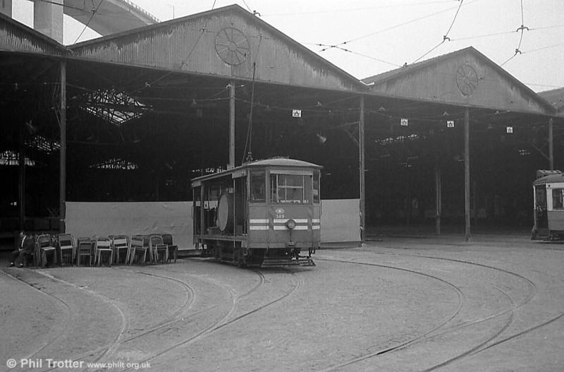 Lisbon water car 389 at Santo Amaro depot.