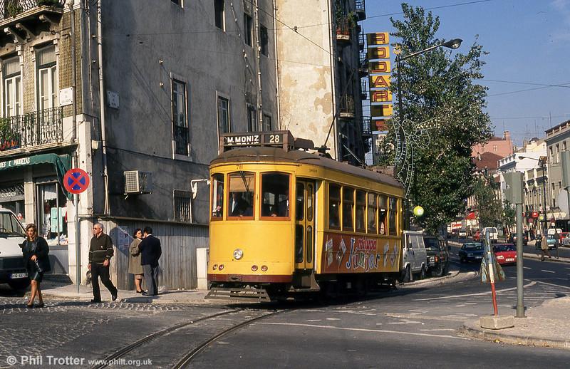 Lisbon 711 at Martim Moniz on 25th November 1993.