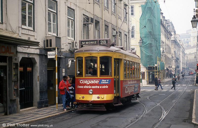 Car 741 in Rua Conceição on 27th November 1993.