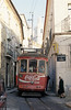Almost touching the sides! Lisbon 701 in the narrow streets on the Graca route, 25th November 1993.