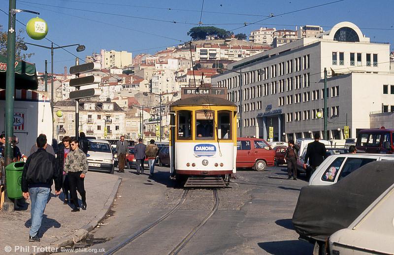 Lisbon 326 at Martim Moniz on 25th November 1993.