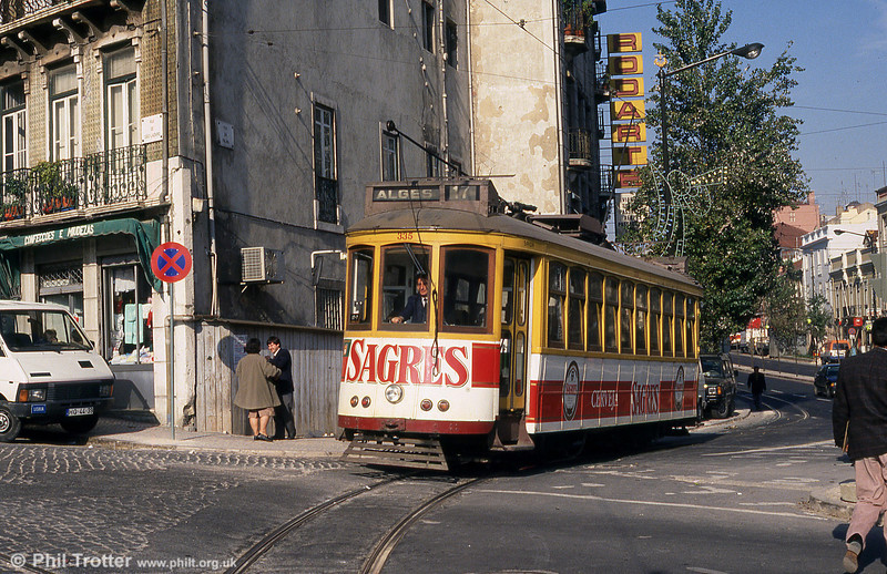 Lisbon 335 at Martim Moniz on 25th November 1993.