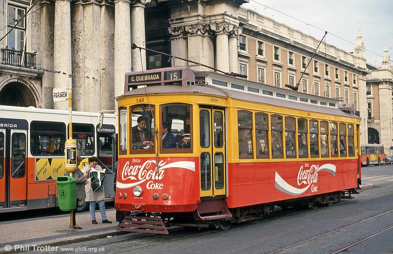Car 346 at Praça do Comércio on 23rd November 1993.