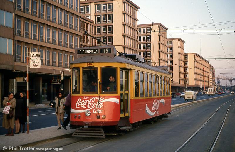 Car 349 at Avenida 24 de Julho on 23rd November 1993.