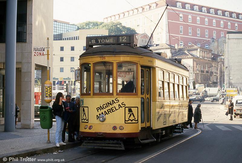 Lisbon 726 at Martim Moniz on 25th November 1993.
