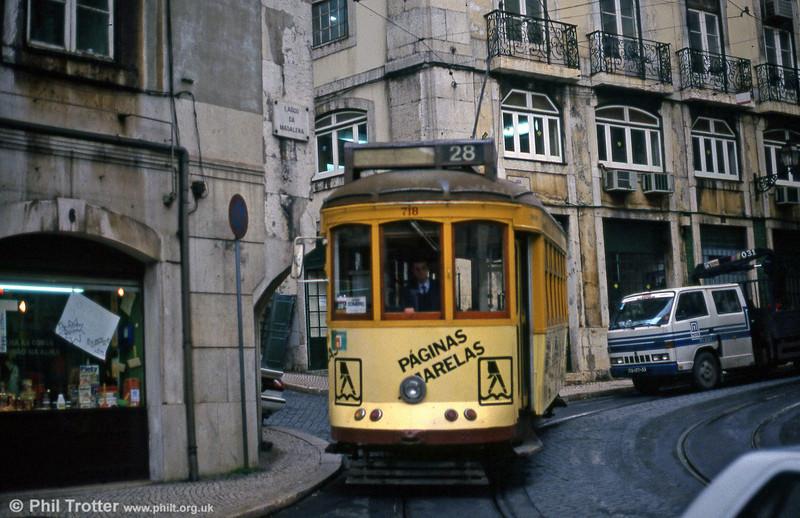 Car 718 at Largo Da Conceição on 22nd November 1993.