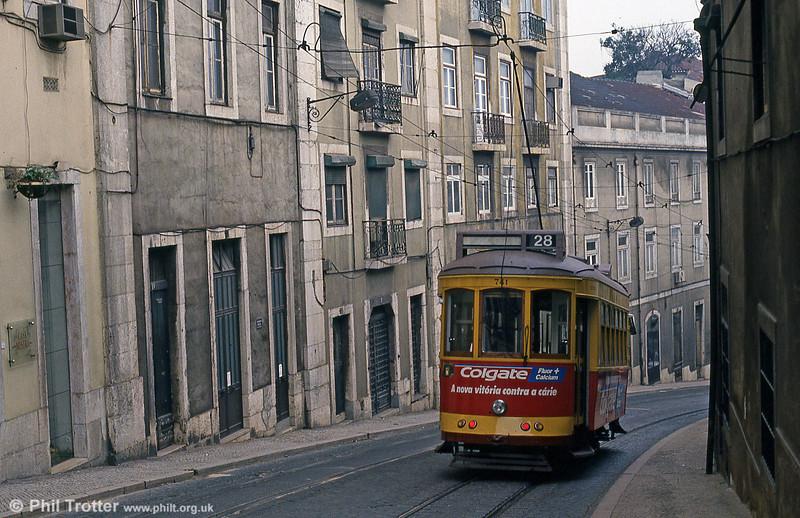 Car 741 in Calçada São Francisco on 27th November 1993.