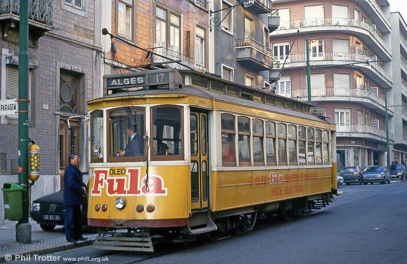 Car 339 at Praca do Chile on 24th November 1993.