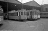 A scene at Santo Amaro depot with several cars, including 337, awaiting their next duty.