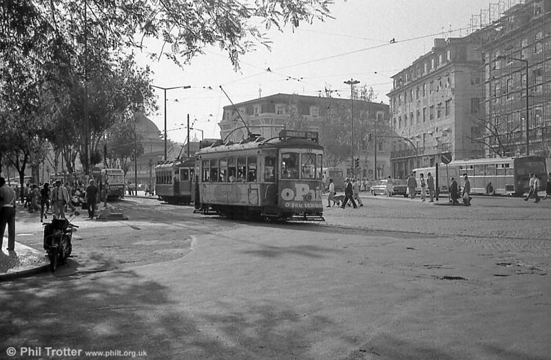 A busy scene at Cais do Sodre, Lisbon with car 249.