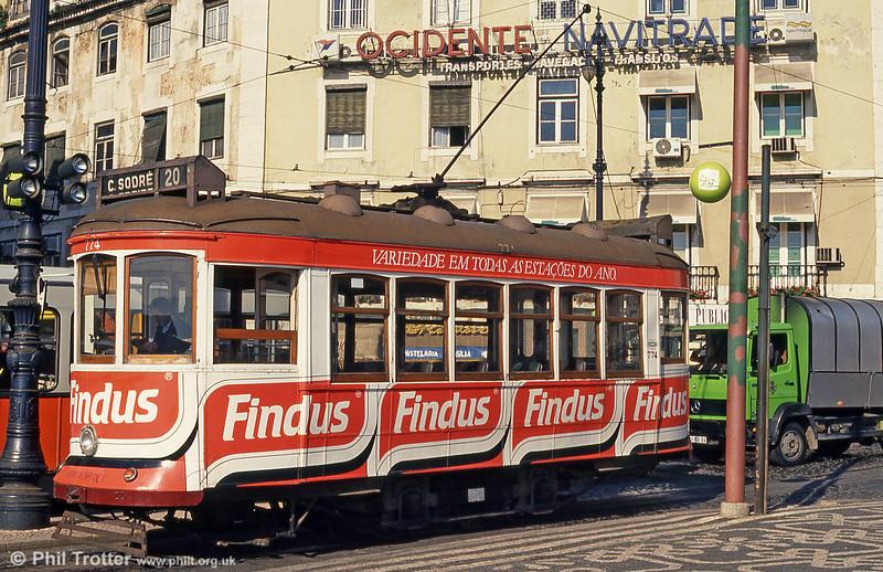 Car 774 at Cais do Sodré on 24th November 1993.