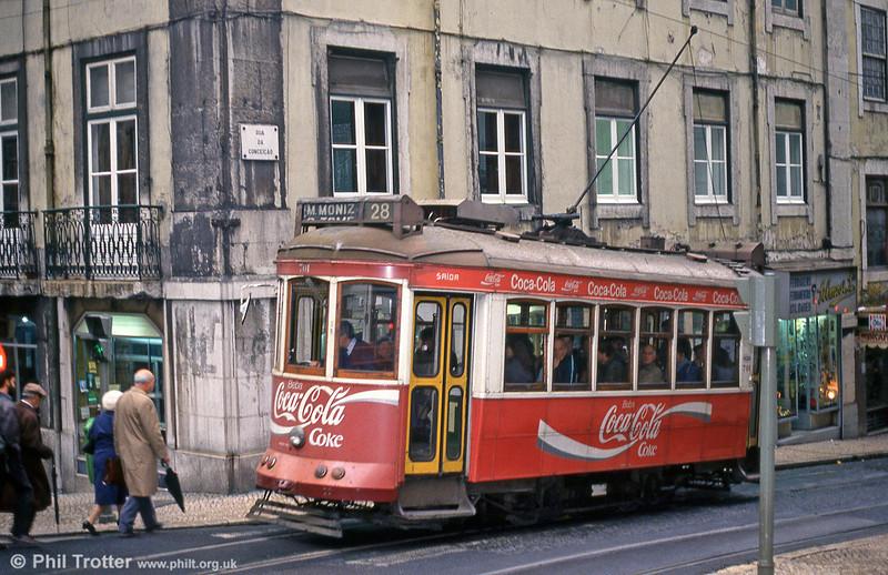 Car 701 at Rua Da Conceição on 22nd November 1993.