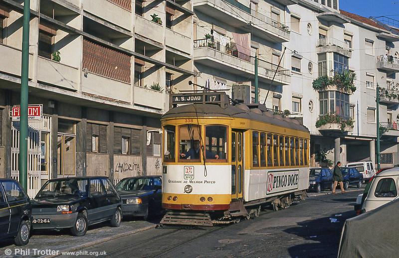 Car 338 at Alto de São João on 24th November 1993.